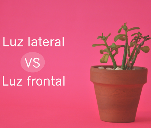 Luz lateral vs luz frontal